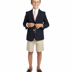 Vineyard Vines Unisex Stretch Navy Blazer - Kid's